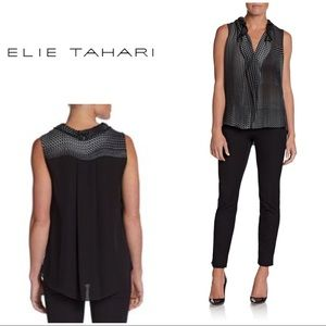New W/ Tags Elie Tahari Selena Silk Blouse
